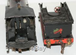 1905-1911 Bing Bassett Lowke Precursor Clockwork Locomotive & Tender Gauge 1
