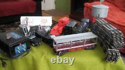 1950's Marx O Gauge Train Set with 333 Smoker Steam Engine SF RUNS + 6 Cars, more