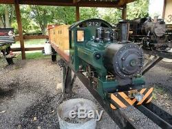 4.75 Gauge 0-4-0 Coles Tank Engine live steam locomotive and full riding train