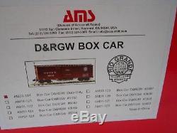 4 Cars Accucraft / AMS AM31-101 D&RGW Box Car Data Only NARROW GAUGE 120.3 Scal