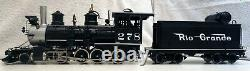 Accucraft 120.3, 45mm gauge D&RGW C-16 2-8-0 w open tender and Phoenix Sound