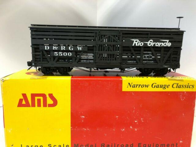 Accucraft / Ams D&rgw Rio Grande Stock Car #5500 120.3 Fn3 Scale Narrow Gauge