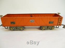 American Flyer 4017 Orange Gondola 7 Mill Standard Gauge X3167