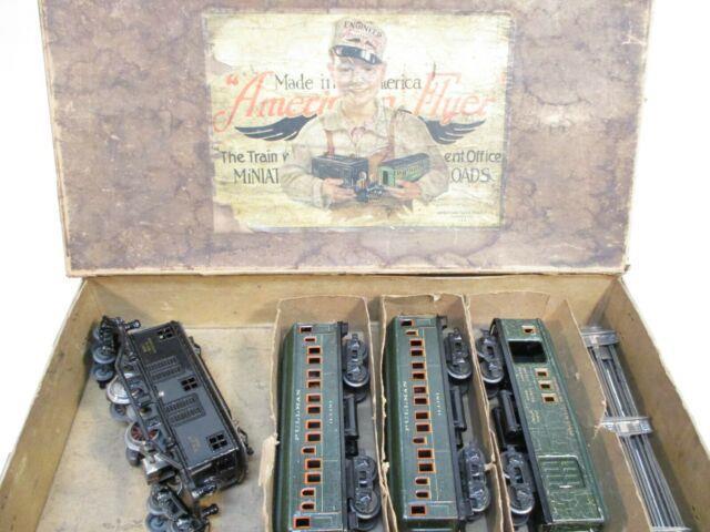 American Flyer Set 1307 Boxed 3020 With Illini Cars Prewar O Gauge X2031