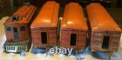 American Flyer (Wide) Standard Gauge #4684 Orange Passenger Set