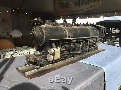 Antique Large Live Steam Locomotive hand built 1947 train engine gauge scale