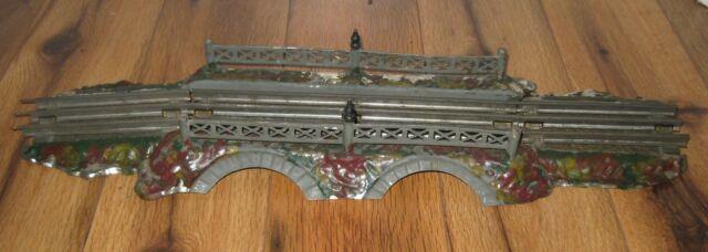 Antique Prewar Ives Tin #92 Rustic O Gauge Bridge Rare Vintage Train Double Arch