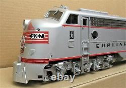 Aristo-Craft ART-23620 Burlington EMD E-8 Diesel Engine G-Gauge LN TESTED OK