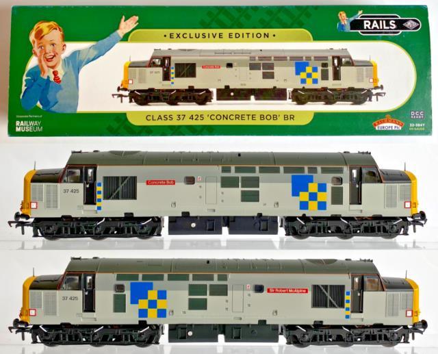 Bachmann 00 Gauge 32-384y Class 37 Diesel 37425 Construction Sector Exclusive