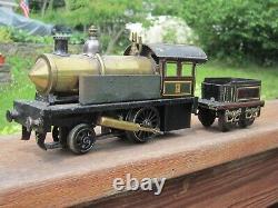 Carette 2-2-0 Live Steam Locomotive Early 1900's O Gauge Bing Bassett Lowke