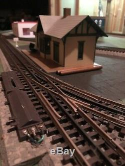 Custom Built O-Gauge Train Layout Excellent Condition with Remote Operation