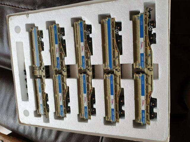 Dapol B859b Mra Bogie Ballast 5 Wagon Set Network Rail Grey/blue Oo Gauge