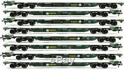 Dapol Oo Gauge Set Of 4 Freightliner Fea-b Spine Wagon Twin Packs New