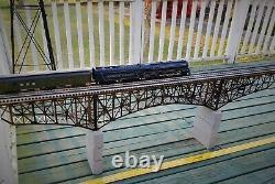 Deck Bridge, M 1920' assembled, details & deco O Gauge Sale. MAO @$750.00