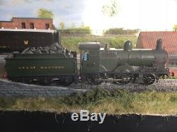 GWR (ex MSWR) 2-4-0 HAND BUILT IN THE SIXTYS BUILT 3 RAIL ELECTRIC O GAUGE