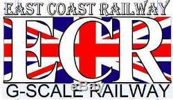 G SCALE RC LOCO STARTER FREIGHT GARDEN RAILWAY GREEN COACH 45mm GAUGE TRAIN SET