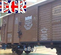 G Scale Gauge Railway Box Car Brown Cargo Boxcar Garden Rolling Stock Train