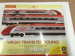 Hornby R2467 OO Gauge Digital Virgin Trains Pendolino 4 Car Set Dcc Fitted