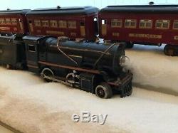 IVES Lionel No. 258 Loco with3-Car 603, 603 & 604 Passenger Set, O Gauge Prewar