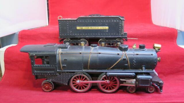 Ives Prewar Wide Gauge 1134 Steam Locomotive & Tender! 1928! Ct