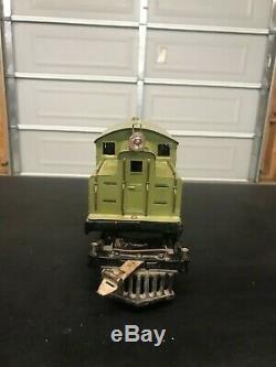 Ives Pre War Standard Gauge Locomotive Green 3243r