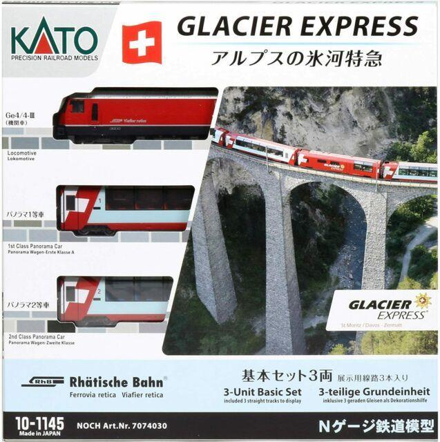 Kato N Gauge Glacier Express In The Alps 3car 10-1145 Model Train Passenger Car