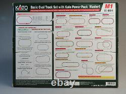 KATO N SCALE M1 BASIC OVAL TRACK SET withPOWER PACK train transformer 20-850-1 NEW