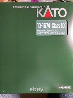 Kato 10-1674 N gauge Class 800/2 5 car Azuma LNER livery