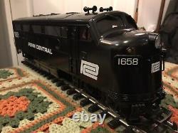 LGB 21570 F7 Locomotive PENN CENTRAL runs smooth! G scale gauge Aristocraft
