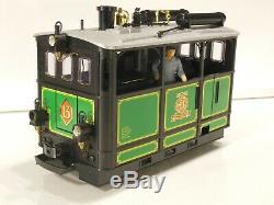 LGB G GAUGE 2150 Elias Steam Tram Locomotive No 13 Green livery with lights. Bxd