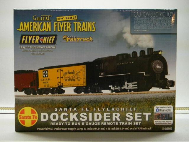 Lionel American Flyer Santa Fe Docksider Flyerchief Set S Gauge Rail 6-44044 New