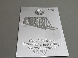 LIONEL EXTENDED TRUSS BRIDGE & MODULAR PIERS O GAUGE fas track over 6-82110 NEW
