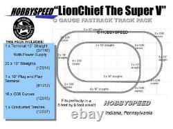 LIONEL FASTRACK LIONCHIEF SUPER V TRACK PACK LAYOUT 5' X 9' O GAUGE train NEW