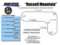LIONEL FASTRACK RUSSELL MOUNTAIN TRACK LAYOUT 12' X 8' O GAUGE trestle line NEW