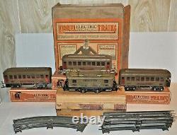 LIONEL PREWAR SET BOX #98 With253 LOCO, CARS (2) #610, (1) #612 ALL OB O GAUGE