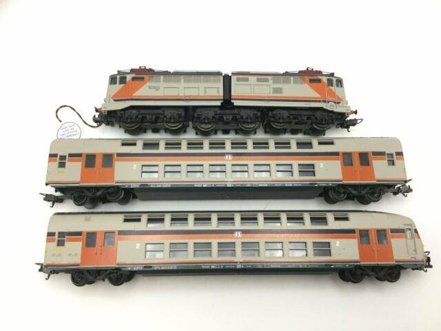 Lima 149804 Ho Gauge Fs Electric Loco & Double Decker Coaches Set