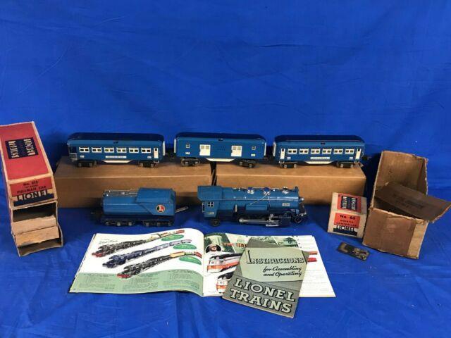 Lionel 283w O Gauge 263e Blue Comet Passenger Set With Boxes