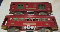 Lionel #319/319/320/322 Nyc Standard Gauge Passenger Cars Matched Set, Maroon