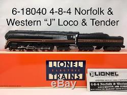 Lionel 6-18040 4-8-4 Norfolk & Western J Steam Locomotive & Tender O Gauge