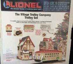 Lionel Christmas Village Motorized Bump N Go Trolley Set 6-11809! O Gauge Train