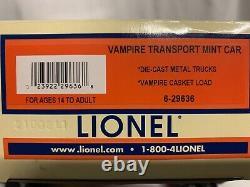 Lionel Halloween Vampire Casket Transport Car 6-29636! For O Gauge Train Set