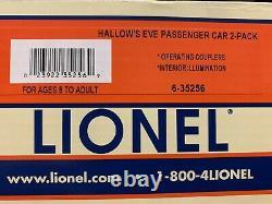 Lionel Hallows Eve Express 2 Car Passenger Set 6-35256 O Gauge Train Halloween