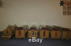 Lionel MTH 408E Standard Gauge Brown State Car 412 413 415 416 Pass Set #MM