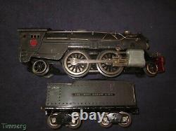 Lionel Prewar 385E Standard Gauge Steam Locomotive & 385W Original Nice