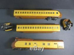 Lionel Prewar 751E UP Streamlined Passenger Set 752E, 753,754 O Gauge Trains Set
