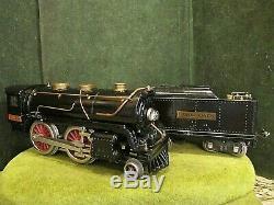 Lionel Prewar Standard Gauge Loco No 384-E Locomotive & 384-T Tender Running