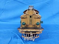 Lionel Prewar Standard Gauge Two Tone Brown 408E Engine loco Original State Set