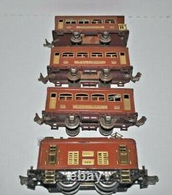 Lionel Prewar Terracota Train Set 248 Engine & 2-529, 530 Passenger Cars O Gauge