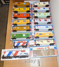 Lionel Spirit Of 76 U36b Diesel Engine 13 Boxcars Caboose O Gauge Train Set 1976