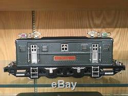 Lionel Standard Gauge 9E Gunmetal Gray Loco & 309, 310, 312 2-Tone Green Cars OB